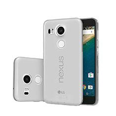 Housse Ultra Fine TPU Souple Transparente pour Google Nexus 5X Gris