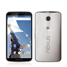 Housse Ultra Fine TPU Souple Transparente pour Google Nexus 6 Gris