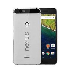 Housse Ultra Fine TPU Souple Transparente pour Google Nexus 6P Gris