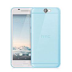 Housse Ultra Fine TPU Souple Transparente pour HTC One A9 Bleu