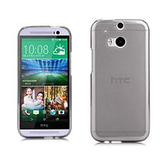 Housse Ultra Fine TPU Souple Transparente pour HTC One M8 Gris