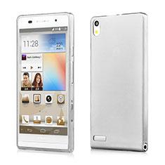 Housse Ultra Fine TPU Souple Transparente pour Huawei Ascend P6 Gris