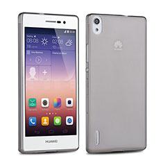 Housse Ultra Fine TPU Souple Transparente pour Huawei Ascend P7 Gris