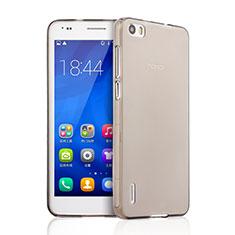 Housse Ultra Fine TPU Souple Transparente pour Huawei Honor 6 Gris