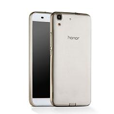 Housse Ultra Fine TPU Souple Transparente pour Huawei Y6 Gris