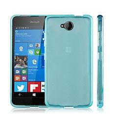 Housse Ultra Fine TPU Souple Transparente pour Microsoft Lumia 650 Bleu