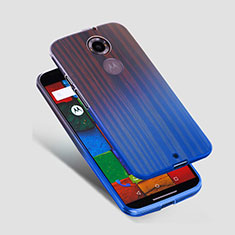 Housse Ultra Fine TPU Souple Transparente pour Motorola Moto X (2nd Gen) Bleu