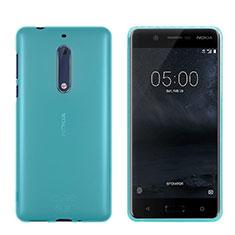 Housse Ultra Fine TPU Souple Transparente pour Nokia 5 Bleu