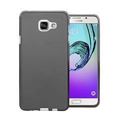 Housse Ultra Fine TPU Souple Transparente pour Samsung Galaxy A7 (2016) A7100 Noir