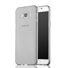 Housse Ultra Fine TPU Souple Transparente pour Samsung Galaxy A7 Duos SM-A700F A700FD Gris
