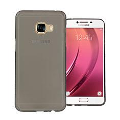 Housse Ultra Fine TPU Souple Transparente pour Samsung Galaxy C5 SM-C5000 Gris