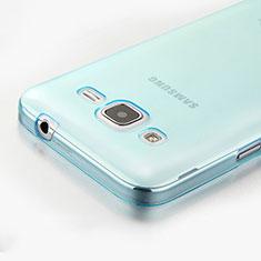 Housse Ultra Fine TPU Souple Transparente pour Samsung Galaxy Core Prime G360F G360GY Bleu