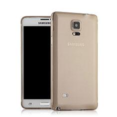 Housse Ultra Fine TPU Souple Transparente pour Samsung Galaxy Note 4 Duos N9100 Dual SIM Gris