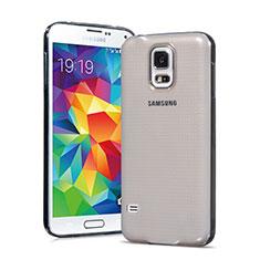 Housse Ultra Fine TPU Souple Transparente pour Samsung Galaxy S5 G900F G903F Gris