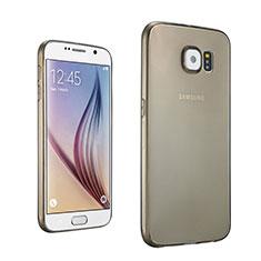 Housse Ultra Fine TPU Souple Transparente pour Samsung Galaxy S6 Duos SM-G920F G9200 Gris