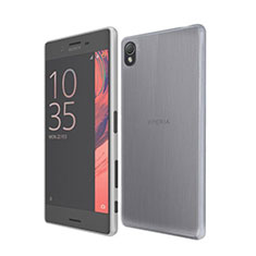 Housse Ultra Fine TPU Souple Transparente pour Sony Xperia X Gris