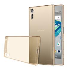 Housse Ultra Fine TPU Souple Transparente pour Sony Xperia XZ Or