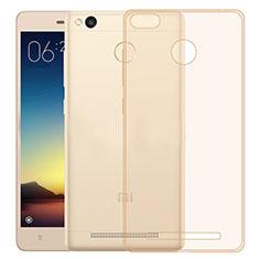 Housse Ultra Fine TPU Souple Transparente pour Xiaomi Redmi 3X Or