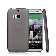 Housse Ultra Fine TPU Souple Transparente T01 pour HTC One M8 Noir