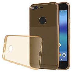 Housse Ultra Fine TPU Souple Transparente T02 pour Google Pixel Or