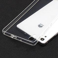 Housse Ultra Fine TPU Souple Transparente T02 pour Huawei Ascend P7 Clair