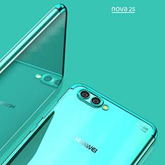 Housse Ultra Fine TPU Souple Transparente T02 pour Huawei Nova 2S Bleu