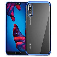 Housse Ultra Fine TPU Souple Transparente T02 pour Huawei P20 Bleu