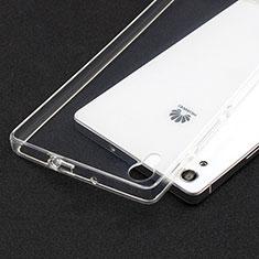 Housse Ultra Fine TPU Souple Transparente T02 pour Huawei P7 Dual SIM Clair