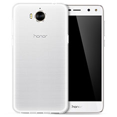 Housse Ultra Fine TPU Souple Transparente T02 pour Huawei Y6 (2017) Clair