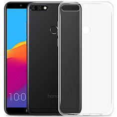 Housse Ultra Fine TPU Souple Transparente T02 pour Huawei Y7 (2018) Clair