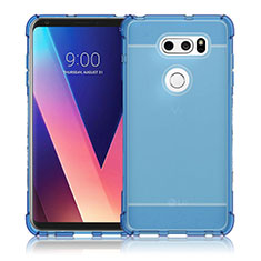 Housse Ultra Fine TPU Souple Transparente T02 pour LG V30 Bleu