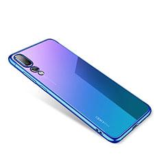 Housse Ultra Fine TPU Souple Transparente T04 pour Huawei P20 Bleu