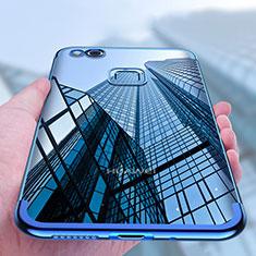 Housse Ultra Fine TPU Souple Transparente T04 pour Huawei P8 Lite (2017) Bleu