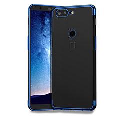 Housse Ultra Fine TPU Souple Transparente T04 pour OnePlus 5T A5010 Bleu