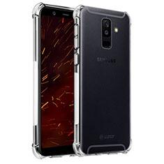 Housse Ultra Fine TPU Souple Transparente T04 pour Samsung Galaxy A6 Plus Clair