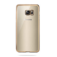 Housse Ultra Fine TPU Souple Transparente T04 pour Samsung Galaxy S6 Duos SM-G920F G9200 Or