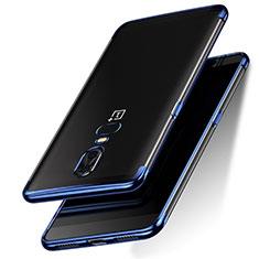 Housse Ultra Fine TPU Souple Transparente T05 pour OnePlus 6 Bleu