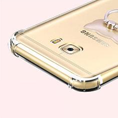Housse Ultra Fine TPU Souple Transparente T05 pour Samsung Galaxy C7 Pro C7010 Gris
