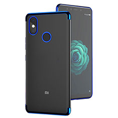Housse Ultra Fine TPU Souple Transparente T05 pour Xiaomi Mi A2 Bleu