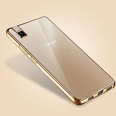 Housse Ultra Fine TPU Souple Transparente T06 pour Huawei Honor 7i shot X Or
