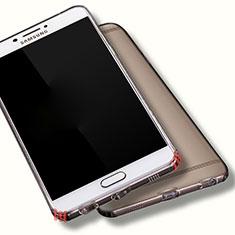 Housse Ultra Fine TPU Souple Transparente T06 pour Samsung Galaxy C7 Pro C7010 Gris
