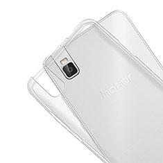 Housse Ultra Fine TPU Souple Transparente T07 pour Huawei Honor 7i shot X Clair