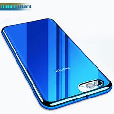 Housse Ultra Fine TPU Souple Transparente T07 pour Huawei Honor V10 Bleu