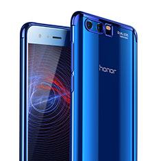 Housse Ultra Fine TPU Souple Transparente T09 pour Huawei Honor 9 Premium Bleu