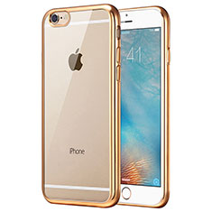 Housse Ultra Fine TPU Souple Transparente T16 pour Apple iPhone 6 Or