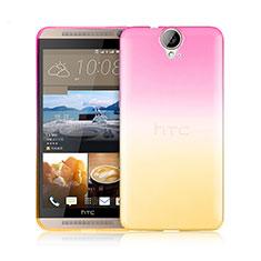 Housse Ultra Fine Transparente Souple Degrade pour HTC One E9 Plus Rose