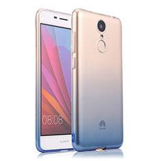 Housse Ultra Fine Transparente Souple Degrade pour Huawei Enjoy 6 Bleu