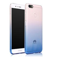 Housse Ultra Fine Transparente Souple Degrade pour Huawei Enjoy 7 Bleu