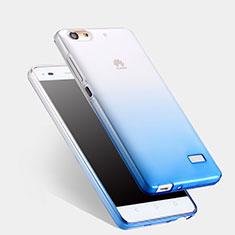 Housse Ultra Fine Transparente Souple Degrade pour Huawei G Play Mini Bleu