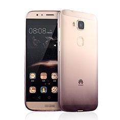 Housse Ultra Fine Transparente Souple Degrade pour Huawei G7 Plus Marron